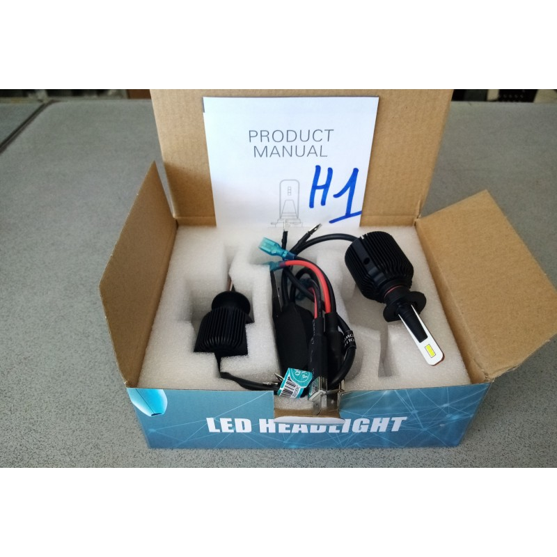 KIT LAMPADA LED H7 6500K FULL CANBUS XENON 8000 LM LUMEN LAMPADE ALL IN ONE